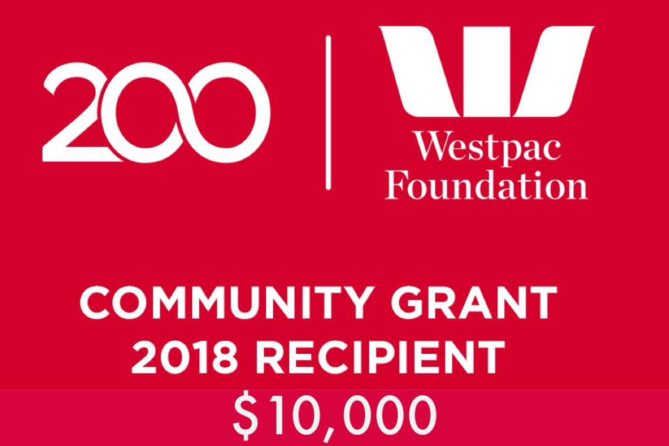 Thank You Westpac Foundation