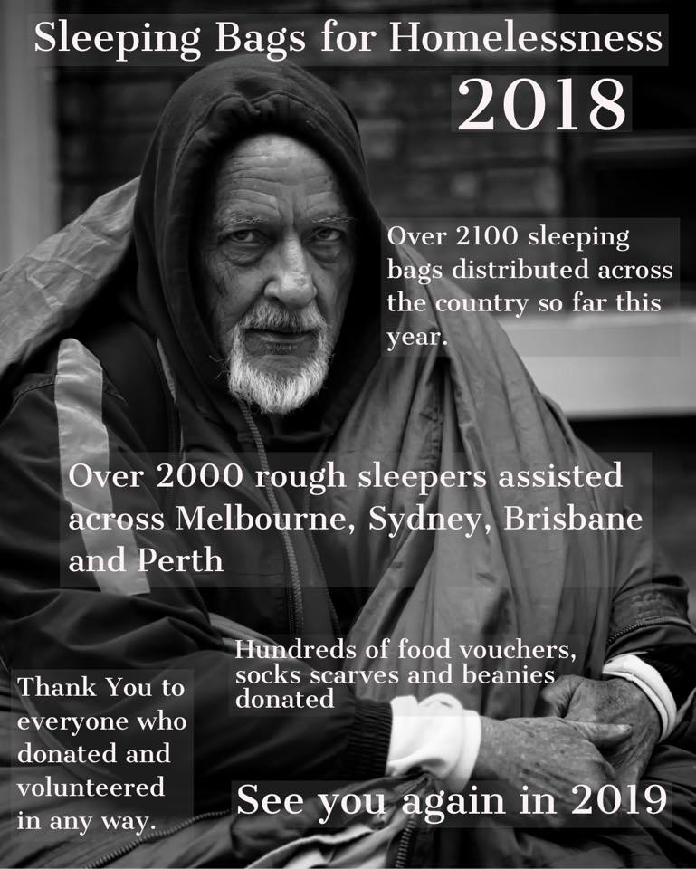 Sleeping Bags For Homelessness 2018