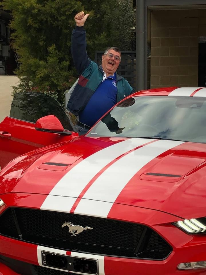Stephen, winner of the Ford Mustang